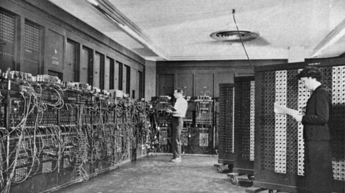 http://en.wikipedia.org/wiki/ENIAC