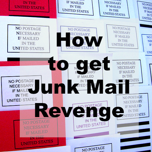 How to get junk mail revenge